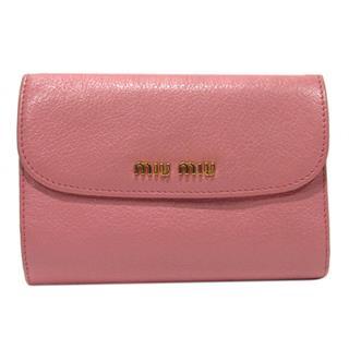 ミュウミュウ (miu miu) L型ZIP財布 二つ折り財布