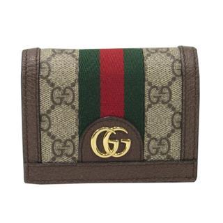 グッチ (GUCCI) オフィディア GGロゴ 二つ折り財布 カードケース 523155 96IWG 8745