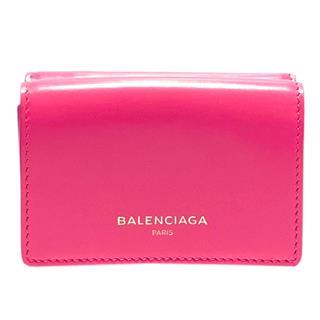 バレンシアガ (BALENCIAGA) 三つ折り 財布 コンパクト ミニ ウォレット