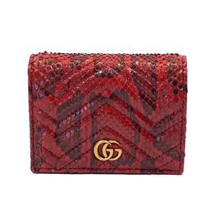 グッチ (GUCCI) GGマーモント 二つ折り財布 466492