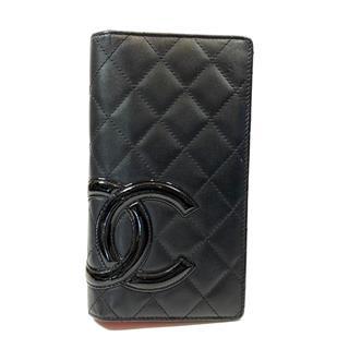 シャネル (CHANEL) カンボンライン 二つ折り 長財布