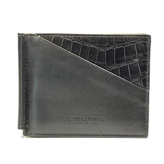 ボッテガ・ヴェネタ (BOTTEGA VENETA) マネークリップ付き カードケース 二つ折り 財布
