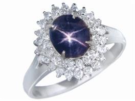 JEWELRY(ジュエリー ジュエリー スターサファイア ダイヤモンド リング 指輪