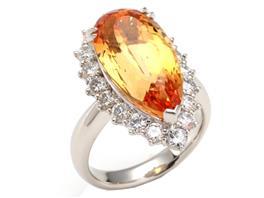 JEWELRY(ジュエリー ジュエリー インペリアルトパーズ ダイヤモンド リング 指輪