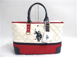 U.S.POLO ASSN.(ユーエスポロ・アソシエーション  BUTTON TOTE トートバッグ