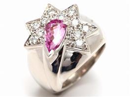 JEWELRY(ジュエリー インペリアルトパーズ ダイヤモンドリング 指輪