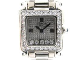 Chopard(ショパール ショパール ハッピースポーツ スクエア ベゼルダイヤ 5Pダイヤモンド ウォッチ 腕時計 27/6851-23