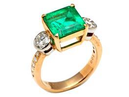 JEWELRY(ジュエリー エメラルド ダイヤモンドリング 指輪