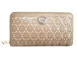 TORY BURCH(トリーバーチ トリーバーチ ROBINSON FLORAL PERFORATED ZIP CONTINENTALラウンド長財布 22159181