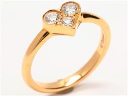 TIFFANY&CO(ティファニー センチメンタルハートリング 3Pダイヤモンド 指輪