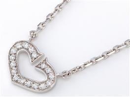 Cartier(カルティエ Cハートネックレス ダイヤモンド