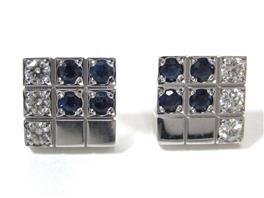 Cartier(カルティエ パイエットピアス サファイア ダイヤモンド