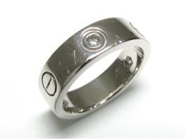 Cartier(カルティエ ラブリング ハーフダイヤモンド リング 指輪
