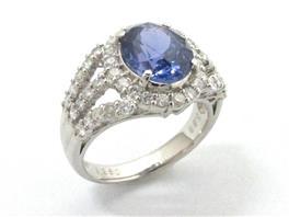 JEWELRY(ジュエリー 非加熱サファイア ダイヤモンド リング 指輪