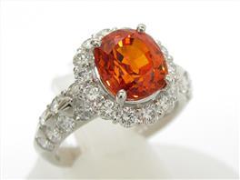 JEWELRY(ジュエリー ジュエリー オレンジサファイア ダイヤモンドリング 指輪