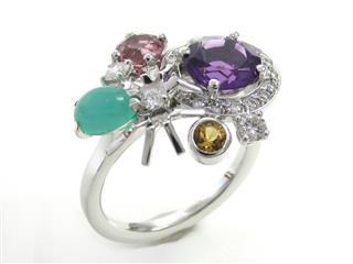 ショーメ (CHAUMET) アトラップ・モア アメジスト ダイヤモンドリング 指輪