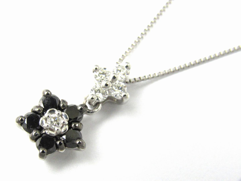 ブラック ダイヤモンド ネックレス/可愛い/おしゃれ/お買得/プレゼント