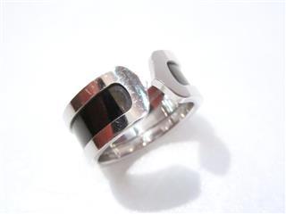 カルティエ (Cartier) C2 リング ブラックラッカー 指輪