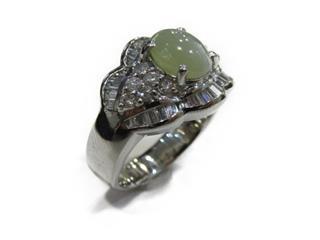 ジュエリー (JEWELRY) クリソベリルキャッツアイ ダイヤモンド リング 指輪