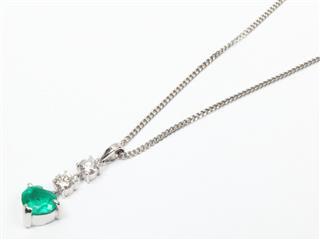 ジュエリー (JEWELRY) エメラルド ダイヤモンド ネックレス