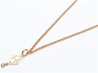 エルメス (HERMES) ガンバード ネックレス 1Pダイヤモンド