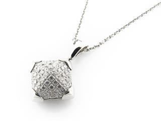 ブルガリ (BVLGARI) ダイヤモンドピラミデネックレス