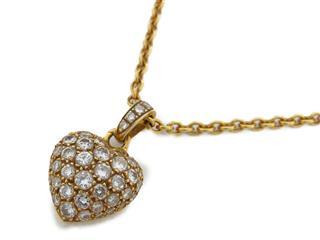 カルティエ (Cartier) ハートネックレス パヴェダイヤモンド ネックレス