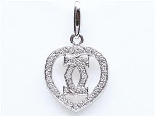 カルティエ (Cartier) 2Cハートダイヤモンド チャーム