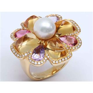 シャネル (CHANEL) サンマルコ 色石 ダイヤモンド リング 指輪