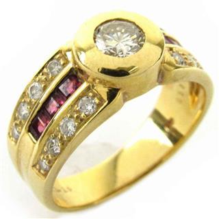 ジュエリー (JEWELRY) ルビー  ダイヤモンド リング 指輪