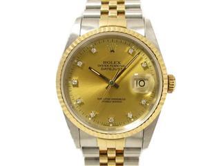 ロレックス (ROLEX) デイトジャスト 10Pダイヤモンド 腕時計 ウォッチ 16233G