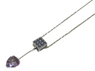 ジュエリー (JEWELRY) アメジスト サファイア ダイヤモンド ネックレス