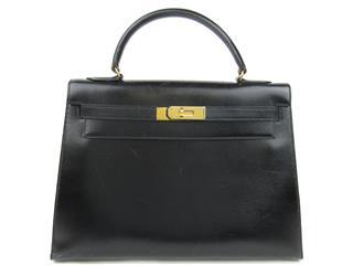 エルメス (HERMES) ケリー32 外縫い ストなし ハンドバッグ