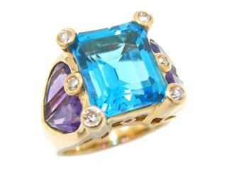 ジュエリー (JEWELRY) マルチカラー ストーン リング 指輪