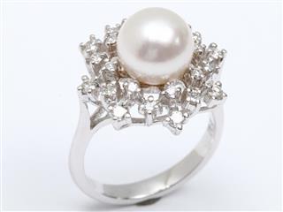 ジュエリー (JEWELRY) パール ダイヤモンド リング 指輪