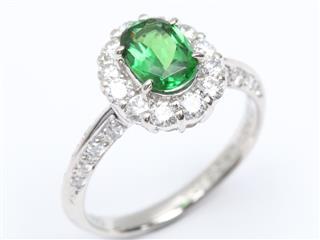 ジュエリー (JEWELRY) グリーンガーネット ダイヤモンド リング 指輪
