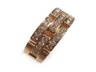 カルティエ (Cartier) マイヨンパンテールハーフダイヤリング