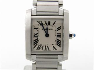 カルティエ (Cartier) タンクフランセーズSM ウォッチ 腕時計 W51008Q3
