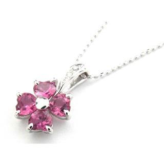 ジュエリー (JEWELRY) ピンクトルマリン ダイヤモンド ネックレス