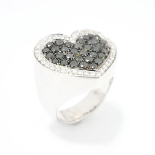 ポンテヴェキオ (Ponte Vecchio) ブラックダイヤモンド ハート リング 指輪