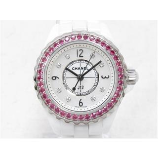 シャネル (CHANEL) J12 8Pダイヤ PKサファイアベゼル 腕時計 ウォッチ H3243