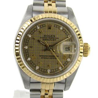 ロレックス (ROLEX) デイトジャスト 10Pダイヤモンド ウォッチ 腕時計 69173G R番