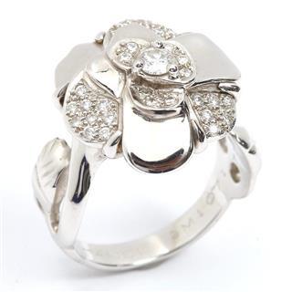 シャネル (CHANEL) カメリアモチーフ ダイヤモンド リング 指輪