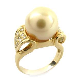 ジュエリー (JEWELRY) シロチョウ パール ダイヤモンド リング 指輪