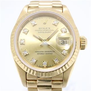 ロレックス (ROLEX) デイトジャスト 10Pダイヤ 新J 旧P 腕時計 69178G N番