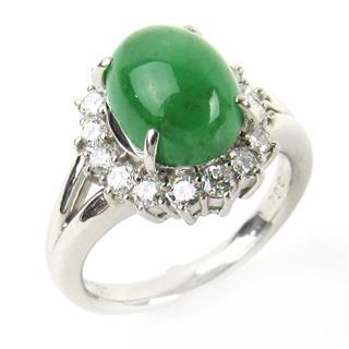 ジュエリー (JEWELRY) ヒスイ ダイヤモンド リング 指輪