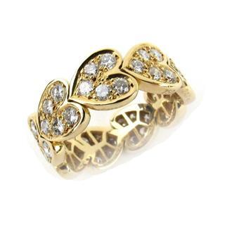 カルティエ (Cartier) ハートウィズダイヤリング ダイヤモンド リング 指輪