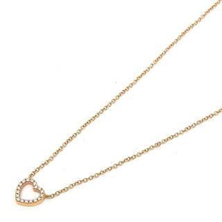 ティファニー (TIFFANY&CO) メトロハート ダイヤモンド ネックレス