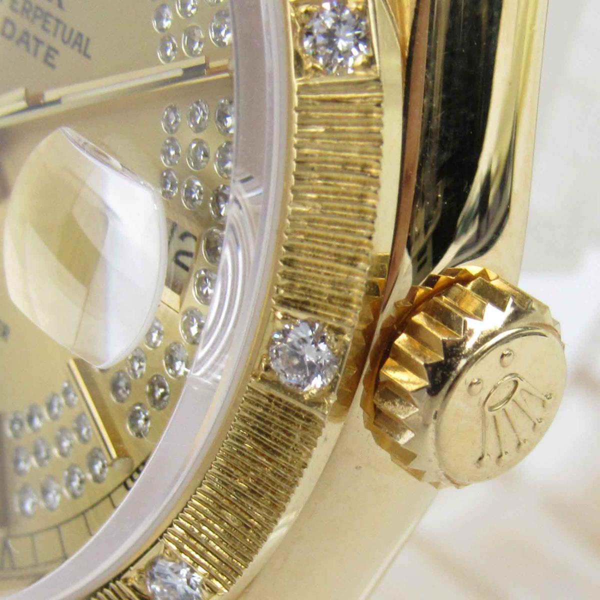 ROLEX 時計 18308 デイデイト ミリヤードダイヤモンド ウォッチ 腕時計