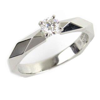 ブシュロン (BOUCHERON) ファセットソリテール ダイヤモンド リング 指輪